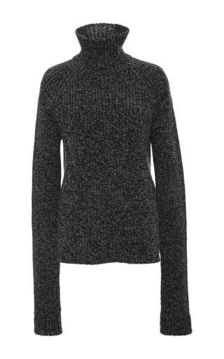 Medium joseph dark grey wool melange sweater