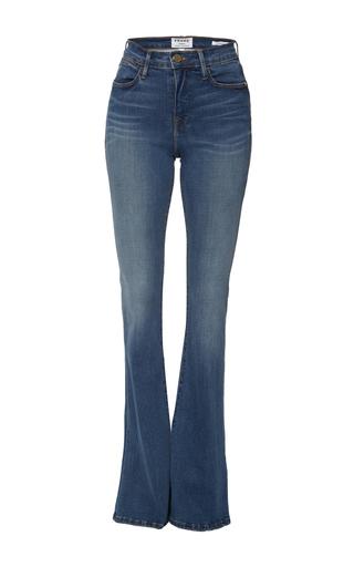 Medium frame denim medium wash le high rise flare jeans