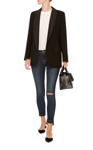 Le Skinny De Jeanne Released Hem Stagger by FRAME DENIM Now Available on Moda Operandi