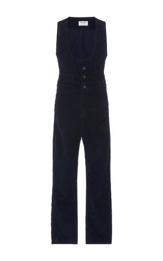 Medium frame denim navy le waist coat jumpsuit