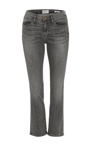 Medium frame denim dark grey le mini boot cut jean