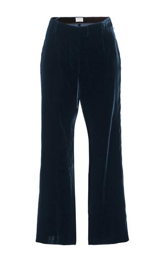 Medium frame denim navy le cropped flare pants
