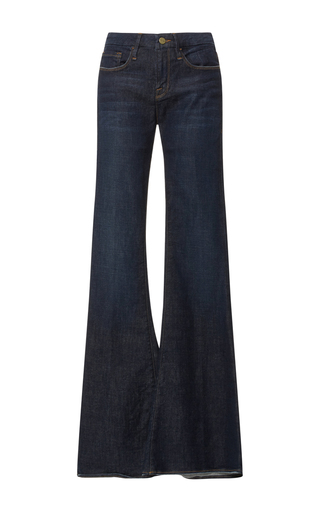Medium frame denim dark wash la bell flared jeans