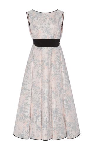Medium cg print back drape evening dress