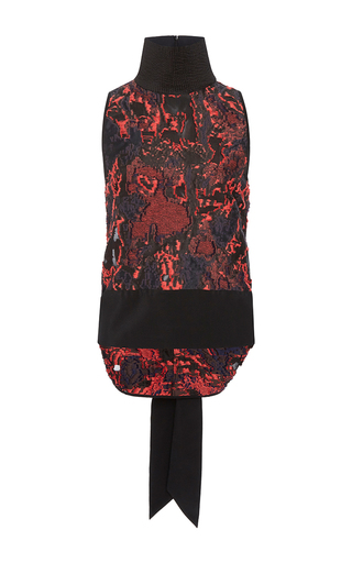 Medium chris gelinas print sleeveless tie back top