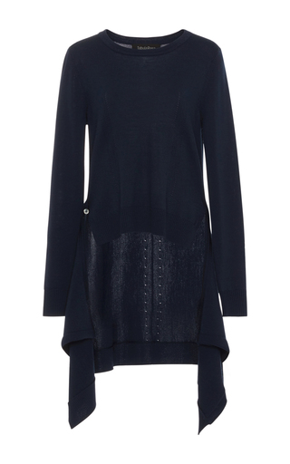 Medium tabula rasa navy nur asymmetrical sweater