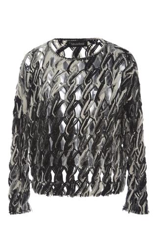 Medium tabula rasa black white lela macrame sweater
