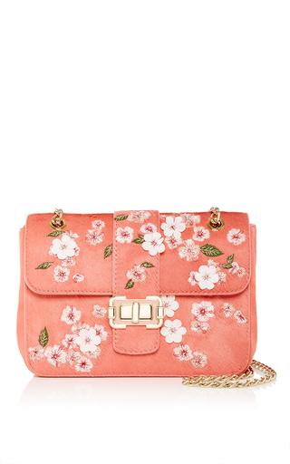 Medium monique lhuillier pink bianca shoulder bag