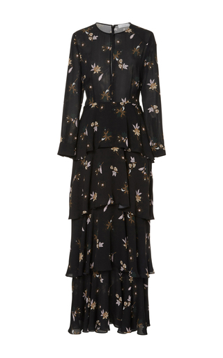 Medium a l c print floating jardani maxi dress