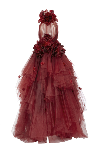 Medium marchesa red ombre tulle ball gown