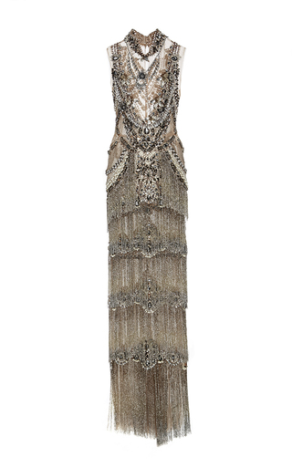 a5bb1f08f MarchesaJeweled Necklace Column Gown