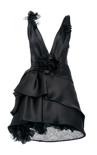 f0b9bd69b MarchesaSatin-Faced Organza Cocktail Dress