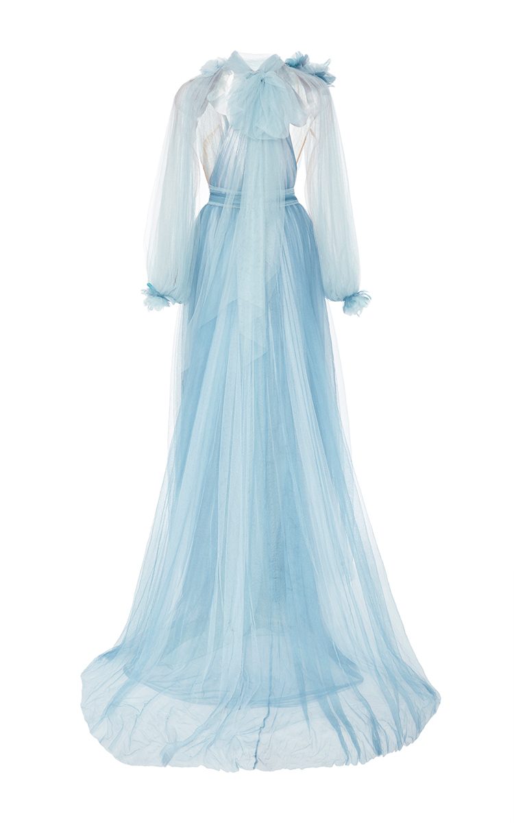 b8e0d004 MarchesaTulle Grecian Gown With Billowing Sleeves. CLOSE. Loading. Loading
