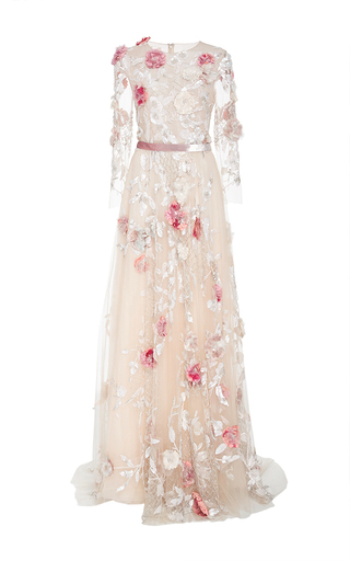 Medium marchesa nude tulle a line ball gown