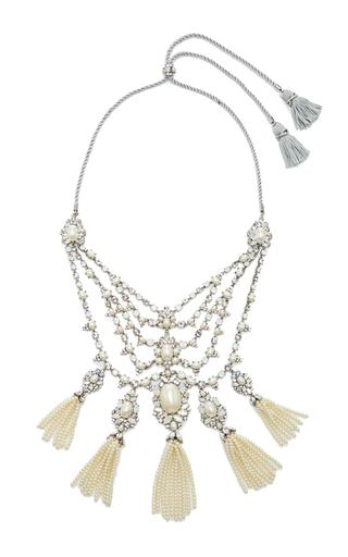 Medium marchesa silver drama collar necklace