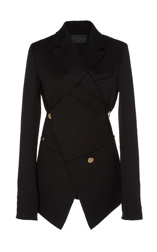 Medium proenza schouler black asymmetrical double breasted blazer