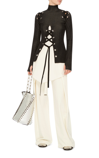 Lace Up Knit Top by PROENZA SCHOULER Now Available on Moda Operandi