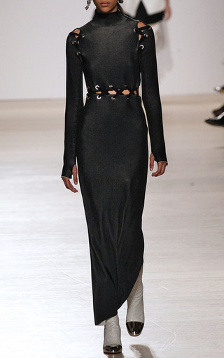 Lace Up Knit Dress by PROENZA SCHOULER Now Available on Moda Operandi