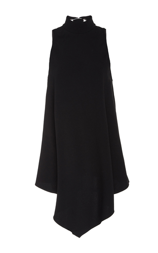 Medium proenza schouler black satin back crepe sleeveless swing top