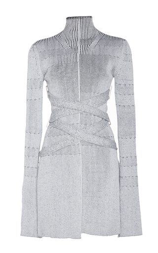 Medium proenza schouler silver fine rib knit turtleneck top
