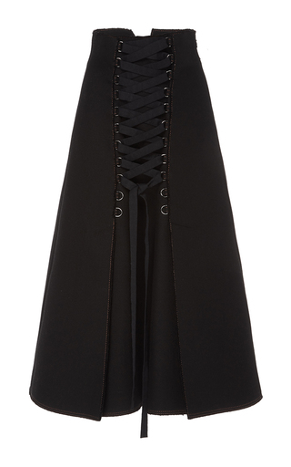 Medium proenza schouler black twill high waist a line skirt