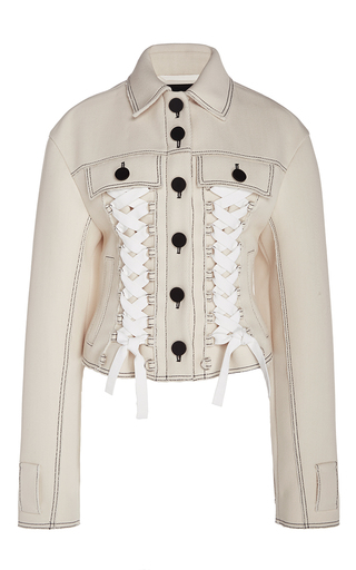 Medium proenza schouler off white twill cropped jacket
