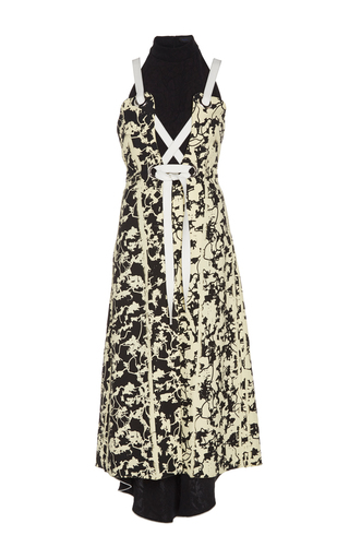 Medium proenza schouler print cady lace up dress