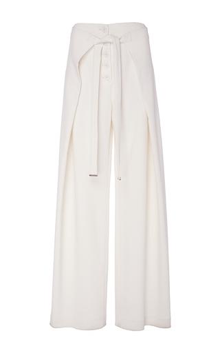 Medium proenza schouler off white wool suiting loose wrap pants