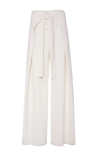Medium proenza schouler off white wool suiting loose wrap pants
