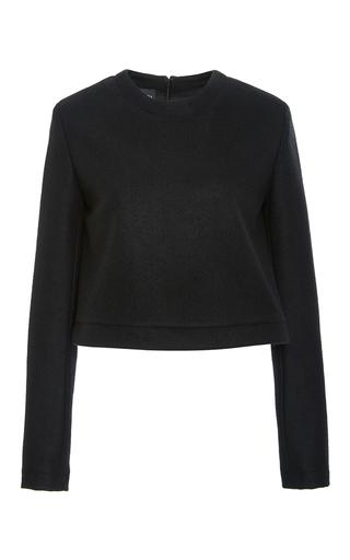 Medium brandon maxwell black cashmere long sleeve top