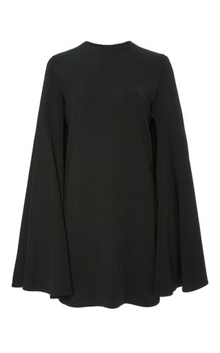 Medium brandon maxwell black knit gauguin long sleeve mini dress