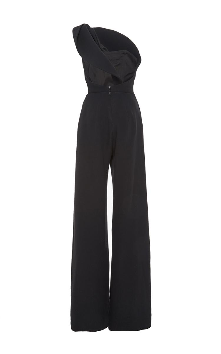 4ea6c9a6785f Brandon MaxwellCrepe Silk One Shoulder Jumpsuit. CLOSE. Loading. Loading