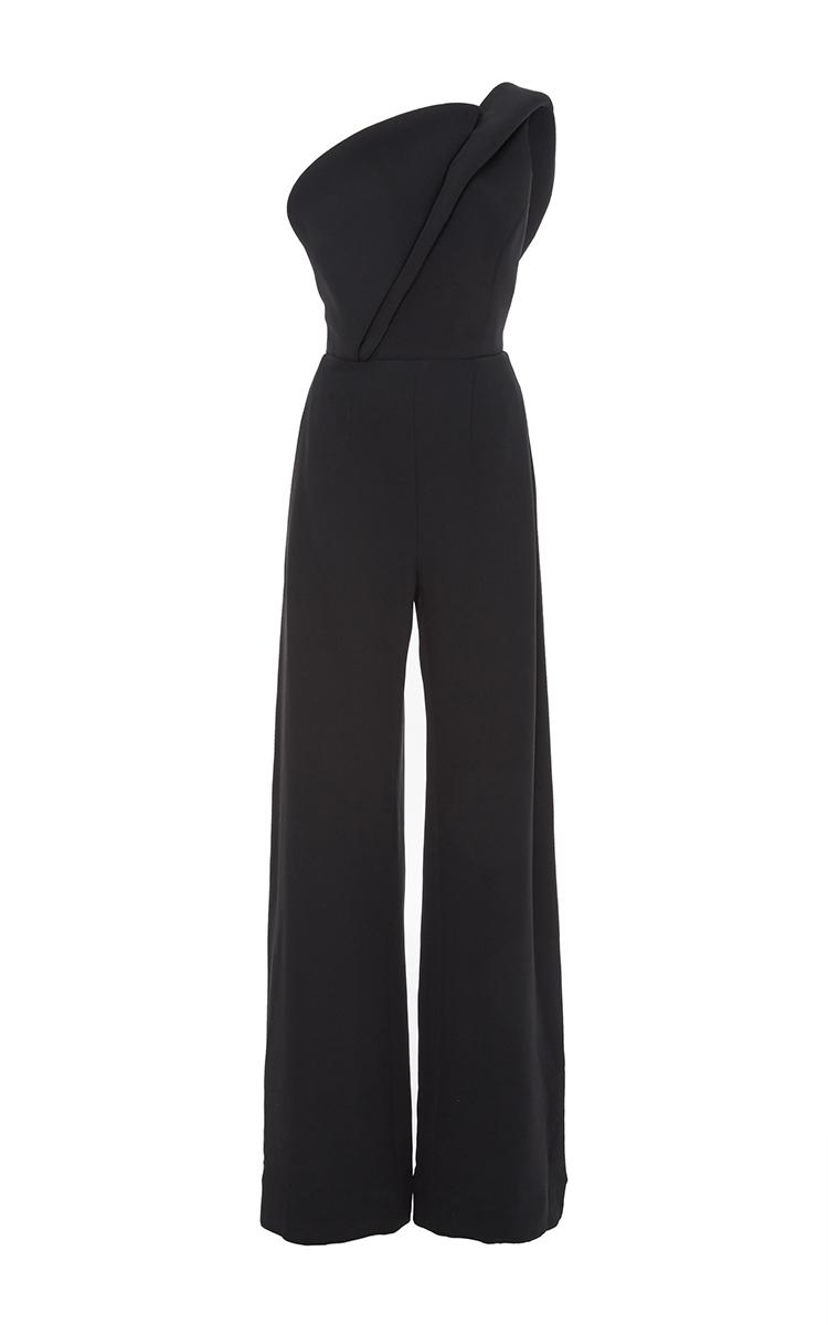 cb27890cc3ee Brandon MaxwellCrepe Silk One Shoulder Jumpsuit. CLOSE. Loading