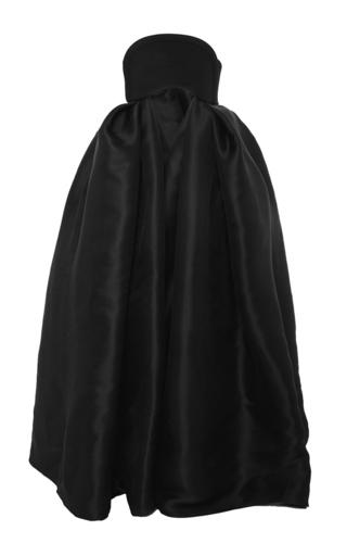 Medium brandon maxwell black crepe silk silk gazaar strapless crop top