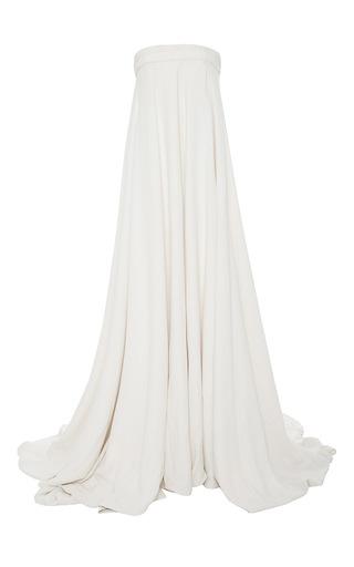 Medium brandon maxwell ivory crepe silk gown jumpsuit