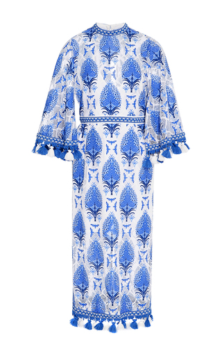 Medium alice mccall blue memphis palm burnout dress