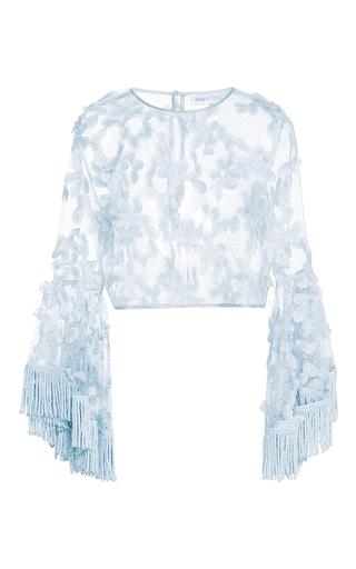 Medium alice mccall light blue blue california sun fringe top