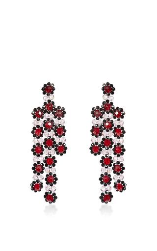 Medium simone rocha burgundy burgundy beaded drop earrings