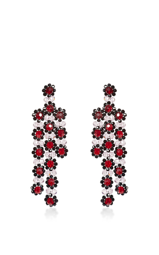 Medium simone rocha burgundy burgundy beaded drop earrings