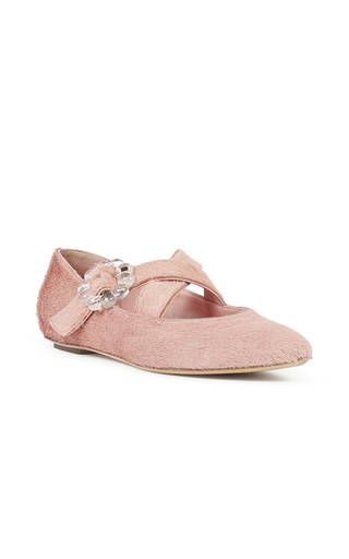Medium simone rocha pink pink pony hair flat