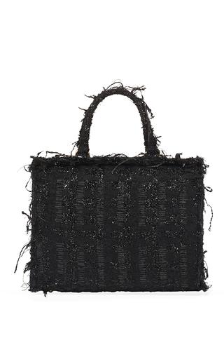 Medium simone rocha black tweed structured bag
