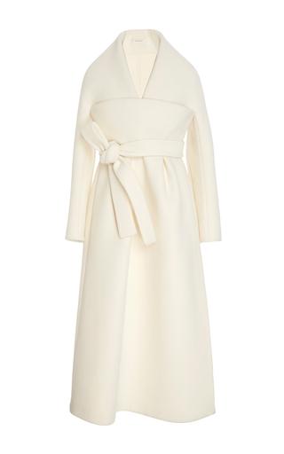 Medium delpozo white kimono v neck coat
