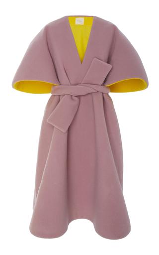 Medium delpozo pink belted oversized sleeve poncho