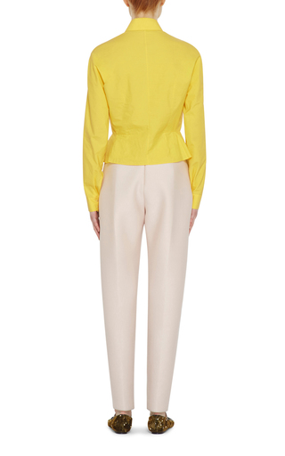 Peplum Button Down Shirt by DELPOZO Now Available on Moda Operandi