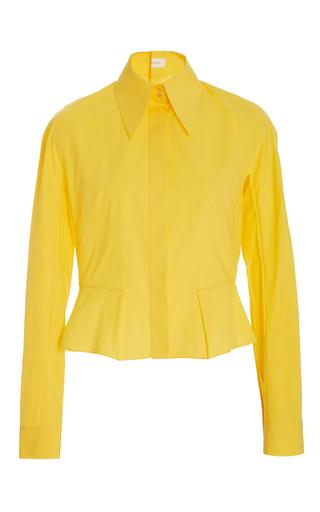 Medium delpozo yellow flared hem buttondown shirt