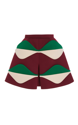 Medium delpozo multi multicolored slit skirt