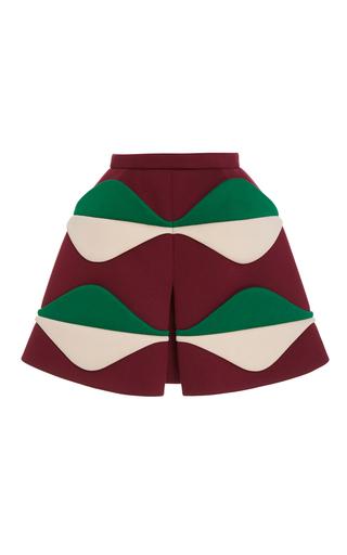Medium delpozo multi multicolored slit skirt
