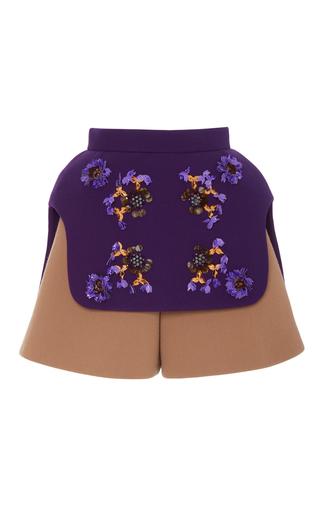 Medium delpozo multi embroidered colorblock shorts