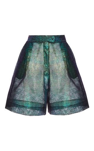 Medium delpozo print lurex lace bermuda shorts