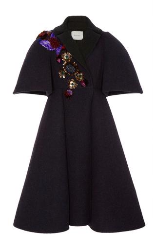 Medium delpozo dark grey a line embroidered coat